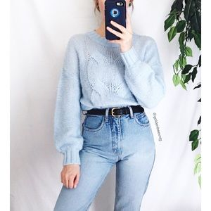 🍂 Cozy Baby Blue Oversized Aerie Tunic Sweater 🍂